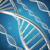 Molécula sintética, artificial de la DNA, el concepto de inteligencia artificial representación 3d Fotos de archivo