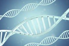 Molécula sintética, artificial de la DNA, el concepto de inteligencia artificial representación 3d Foto de archivo libre de regalías