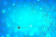 Molécula y comunicación de la estructura DNA, átomo, neuronas Concepto científico para su diseño Líneas conectadas con los puntos Foto de archivo libre de regalías