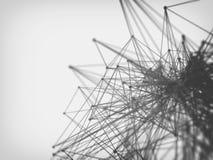 Molécula y fondo de la comunicación Fotografía de archivo libre de regalías