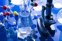 moléculaire modèle de laboratoire Images stock