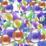 Moléculas Imagem de Stock