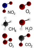 Moléculas Foto de Stock Royalty Free