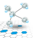 Moléculas Imágenes de archivo libres de regalías