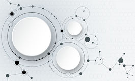 Moléculas abstratas e comunicação - conceito social da tecnologia dos meios Fotografia de Stock Royalty Free