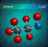 Moléculas del etanol Fotos de archivo libres de regalías