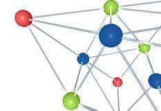 moléculas del producto químico 3D Fotografía de archivo libre de regalías