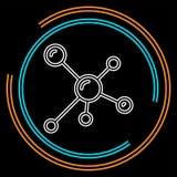 Moléculas do átomo, ciência e química, símbolo químico ilustração stock