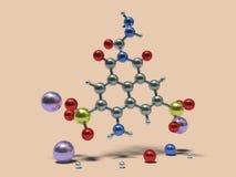 Moléculas engraçadas - Lucifer Yellow ilustração royalty free