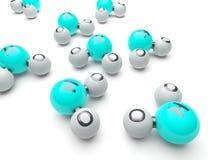 Moléculas H20 Fotos de Stock Royalty Free