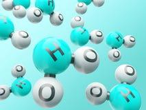 Moléculas H20 Foto de Stock Royalty Free