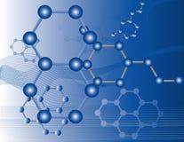 Moléculas orgánicas Foto de archivo libre de regalías