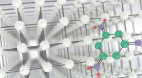 Moléculas químicas Imágenes de archivo libres de regalías