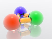 molécule 3D Photos stock