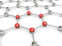 Molécule 3d Photo libre de droits