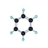 Molécule 3D de benzène illustration stock