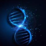 Molécule abstraite d'ADN, fond de la science Dessin de vecteur illustration stock