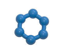 Molécule bleue sur le fond blanc Photographie stock