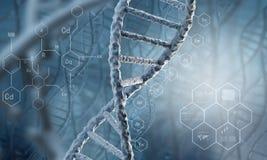 Molécule d'ADN photographie stock