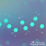 Molécule d'ADN sur le fond bleu Fond graphique pour votre conception Illustration de vecteur Photographie stock libre de droits