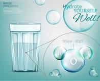 Molécule d'eau 03 A Image libre de droits
