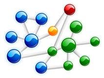 Molécule de couleur Photographie stock