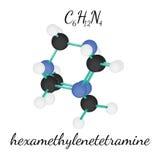 Molécule de l'hexaméthylènetétramine C6H12N4 Photographie stock libre de droits