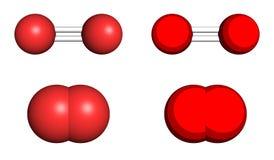 Molécule de l'oxygène Photos libres de droits