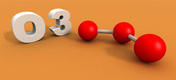 Molécule de l'ozone Photo libre de droits