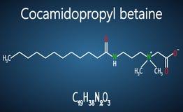 Molécule de la bétaïne CAPB de Cocamidopropyl Forme chimique structurelle illustration stock