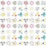 Molécule de structure de connexion d'illustration sans couture de vecteur de technologie de la science de modèle de fond de neuro illustration stock
