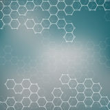 Molécule de structure de l'ADN et des neurones abrégez le fond Image libre de droits