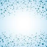 Molécule de structure de l'ADN et des neurones abrégez le fond Images libres de droits