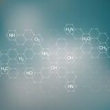 Molécule de structure de l'ADN et des neurones abrégez le fond Médecine, la science, technologie Image libre de droits