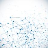 Molécule et fond de communication Image stock