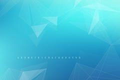 Molécule graphique géométrique et communication de fond Grand complexe de données avec des composés Contexte de perspective minim illustration libre de droits