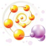 Molécule spiralée Photos stock