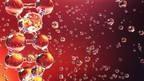 Molécule vitreuse d'ADN illustration stock