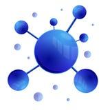 Molécules Photographie stock libre de droits