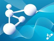 Molécules Photographie stock