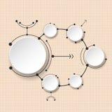 Molécules abstraites avec le cercle du papier 3d et l'espace vide pour votre contenu Photographie stock libre de droits
