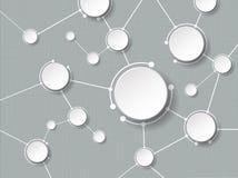 Molécules abstraites avec le cercle du papier 3d et l'espace vide pour votre contenu Images stock
