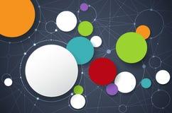 Molécules abstraites de vecteur avec le label du papier 3D Images stock