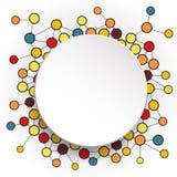 Molécules abstraites et cercles 3d de papier avec l'espace vide pour votre contenu Image libre de droits