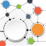 Molécules abstraites et technologie des communications avec les cercles intégrés Photos stock