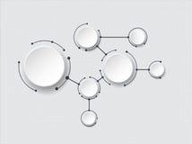 Molécules abstraites et technologie des communications avec les cercles intégrés Images stock