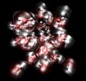 Molécules dans un cristal de glace Photographie stock libre de droits