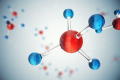 molécules de l'illustration 3D Bacgkround d'atomes Fond médical pour la bannière ou l'insecte Structure moléculaire à l'atomique Photographie stock