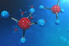 molécules du rendu 3D Bacgkround d'atomes Fond médical pour la bannière ou l'insecte Structure moléculaire à l'atomique Photographie stock libre de droits