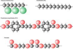 Molécules en plastique Photographie stock libre de droits